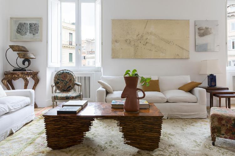 nice sitting area in Navona-Pantheon-Venezia - Corso Vittorio Emanuele II luxury apartment