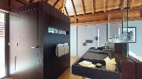 swanky bathroom in Saint Barth Villa Joy luxury holiday home, vacation rental