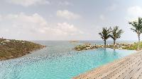 cool infinity pool of Saint Barth Villa Joy luxury holiday home, vacation rental