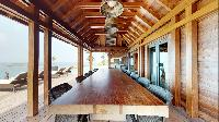 cool dining area in Saint Barth Villa Joy luxury holiday home, vacation rental
