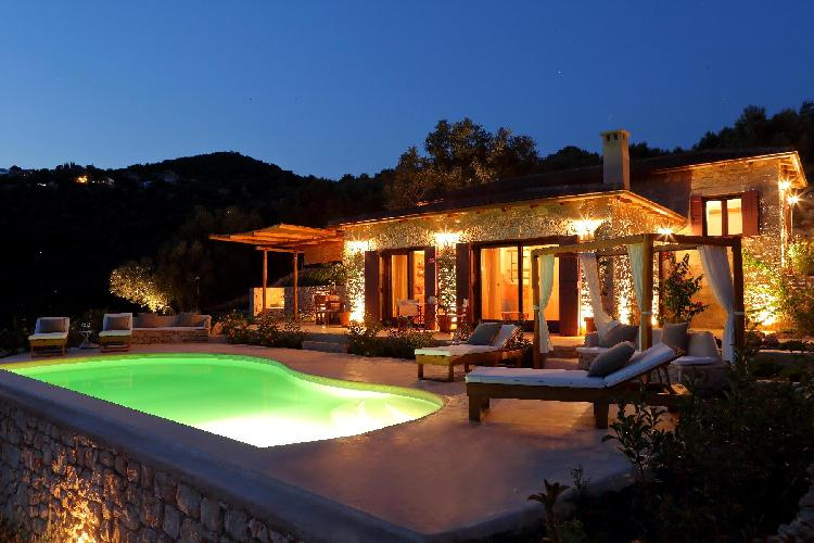 splendid Lefkas Amapola Villa Phos luxury holiday home, vacation rental