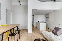cool open-plan living room of Marais - Turenne 1 bedroom luxury apartment