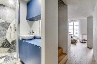 nice bathroom interiors of Marais - Turenne 1 bedroom luxury apartment