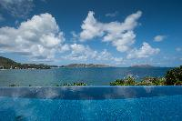 cool infinity pool of Saint Barth Villa Pointe Milou luxury holiday home, vacation rental
