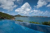 cool swimming pool of Saint Barth Villa Pointe Milou luxury holiday home, vacation rental