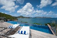 spectacular sea view from Saint Barth Villa Pointe Milou luxury holiday home, vacation rental