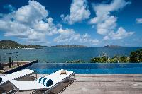 splendid sea view from Saint Barth Villa Pointe Milou luxury holiday home, vacation rental
