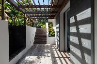 cool trellis of Saint Barth Villa Pointe Milou luxury holiday home, vacation rental