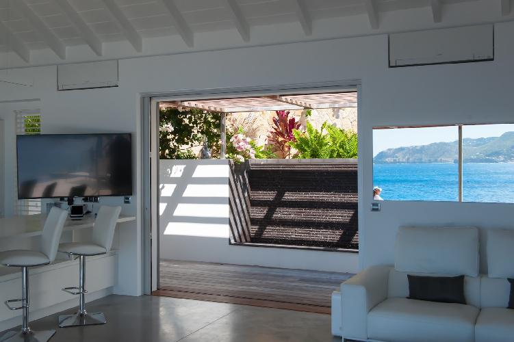 amazing seafront Saint Barth Villa Pointe Milou luxury holiday home, vacation rental