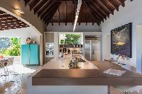 beautiful living room of Saint Barth Villa Acamar luxury holiday home, vacation rental