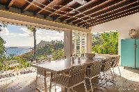 beautiful dining room of Saint Barth Villa Acamar luxury holiday home, vacation rental