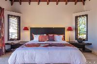 pristine bedding in Saint Barth Villa Acamar luxury holiday home, vacation rental