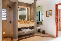 elegant bathroom in Saint Barth Villa Acamar luxury holiday home, vacation rental