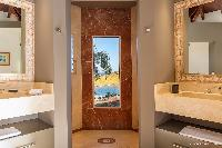 fancy bathroom in Saint Barth Villa Acamar luxury holiday home, vacation rental