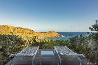 cool terrace of Saint Barth Villa Acamar luxury holiday home, vacation rental