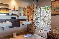 clean bathroom in Saint Barth Villa Acamar luxury holiday home, vacation rental