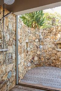 invigorating shower at Saint Barth Villa Acamar luxury holiday home, vacation rental