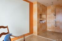 refreshing rain shower in Saint Barth Villa Acamar luxury holiday home, vacation rental