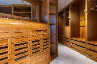 nice walk-in closet in Saint Barth Villa Acamar luxury holiday home, vacation rental