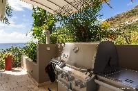 lush garden of Saint Barth Villa Acamar luxury holiday home, vacation rental