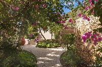 lovely garden of Saint Barth Villa Acamar luxury holiday home, vacation rental