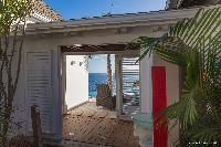 cool courtyard of Saint Barth Villa Acamar luxury holiday home, vacation rental