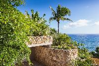 beautiful garden of Saint Barth Villa Acamar luxury holiday home, vacation rental