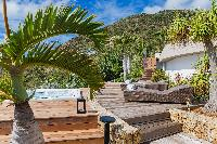 cool garden of Saint Barth Villa Acamar luxury holiday home, vacation rental