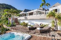 incredible exterior of Saint Barth Villa Acamar luxury holiday home, vacation rental