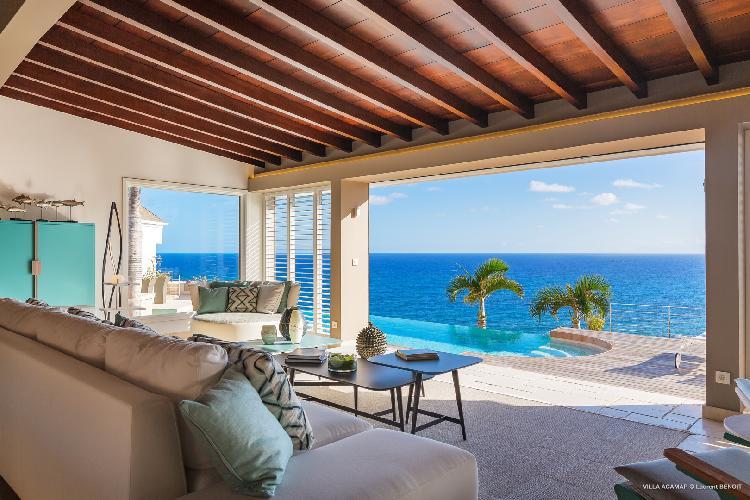 wonderful seafront Saint Barth Villa Acamar luxury holiday home, vacation rental