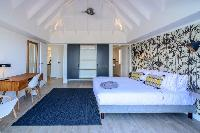 fresh bed sheets in Saint Barth Villa Lagon Rose luxury holiday home, vacation rental