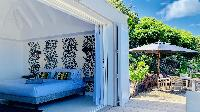 cool balcony of Saint Barth Villa Lagon Rose luxury holiday home, vacation rental