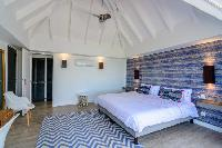clean bedroom linens in Saint Barth Villa Lagon Rose luxury holiday home, vacation rental