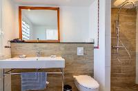 clean lavatory in Saint Barth Villa Lagon Rose luxury holiday home, vacation rental