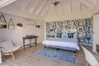 pristine bedding in Saint Barth Villa Lagon Rose luxury holiday home, vacation rental