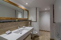clean bathroom in Saint Barth Villa Lagon Rose luxury holiday home, vacation rental