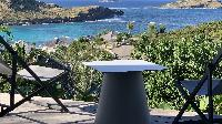 cool terrace of Saint Barth Villa Lagon Rose luxury holiday home, vacation rental