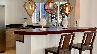 cool breakfast bar of Saint Barth Villa Lagon Rose luxury holiday home, vacation rental