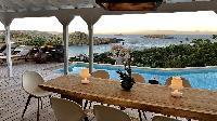 awesome waterfront Saint Barth Villa Lagon Rose luxury holiday home, vacation rental