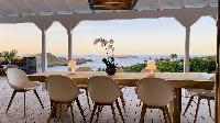 awesome sea view from Saint Barth Villa Lagon Rose luxury holiday home, vacation rental