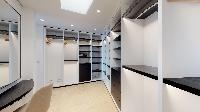 cool walk-in closet in Saint Barth Villa Romane luxury holiday home, vacation rental