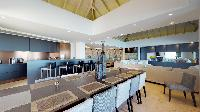 cool dining room of Saint Barth Villa Romane luxury holiday home, vacation rental