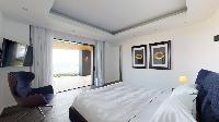 pristine bedding in Saint Barth Villa Romane luxury holiday home, vacation rental