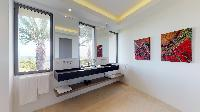 elegant lavatory in Saint Barth Villa Romane luxury holiday home, vacation rental