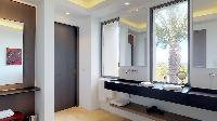 elegant bathroom in Saint Barth Villa Romane luxury holiday home, vacation rental