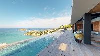 cool swimming pool of Saint Barth Villa Romane luxury holiday home, vacation rental
