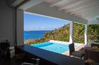 cool terrace Saint Barth Villa Tortue luxury holiday home, vacation rental