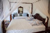 clean bedroom linens in Saint Barth Villa Tortue luxury holiday home, vacation rental