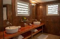 clean bathroom in Saint Barth Villa Tortue luxury holiday home, vacation rental