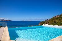 cool infinity pool of Saint Barth Villa Tortue luxury holiday home, vacation rental